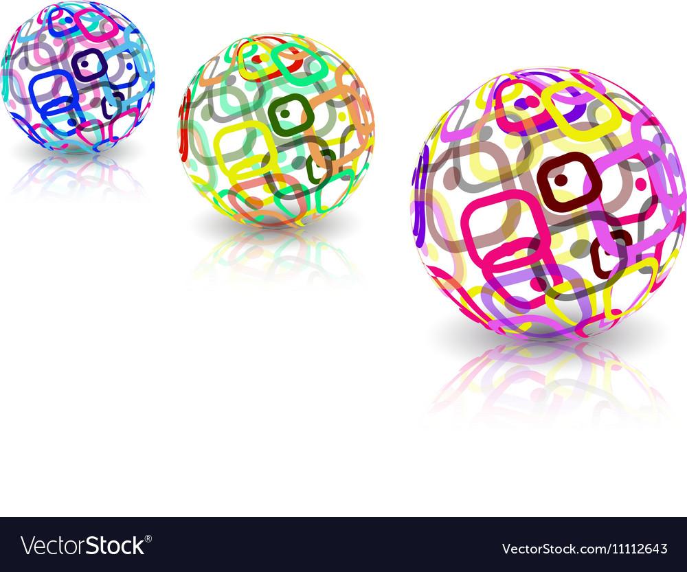 Logo design Sphere shape vector image