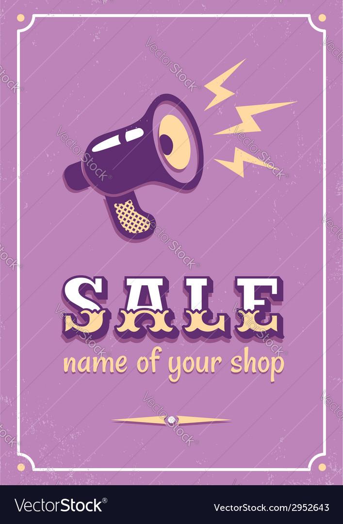 Sale megaphone vector image