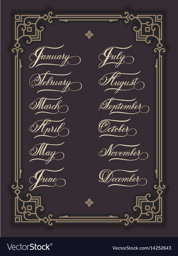 Set of hand drawn lettering all vector image