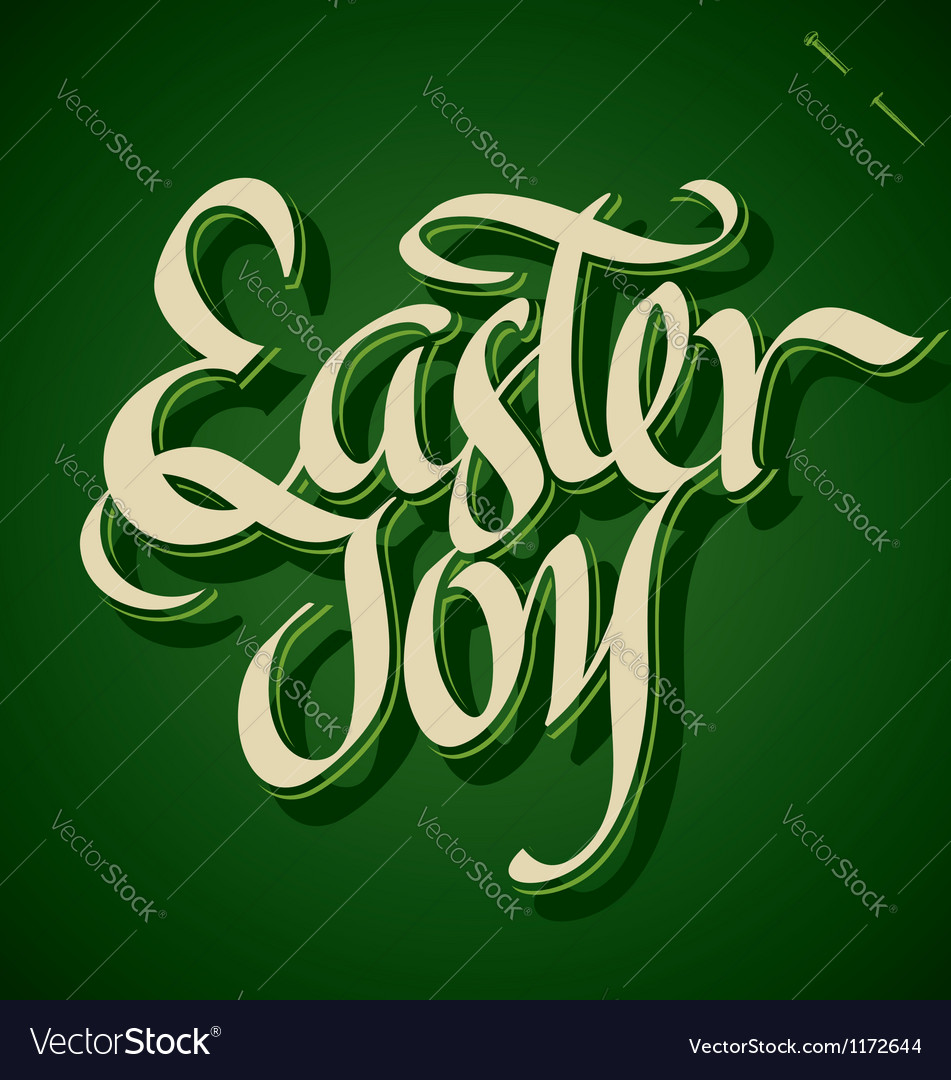 EASTER JOY hand lettering vector image