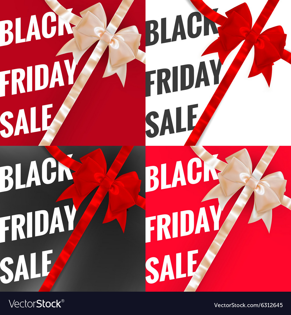 Black friday sale typographical Set EPS 10 vector image