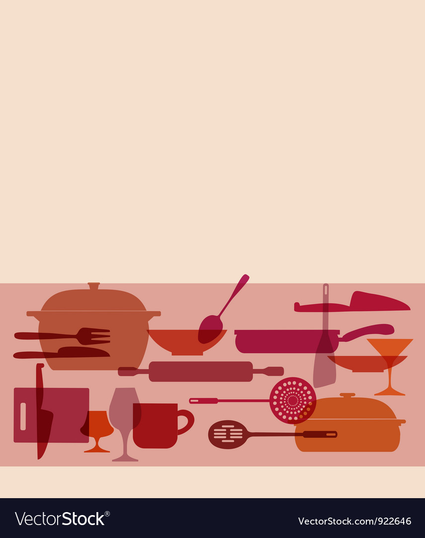 Kitchenware set vector image