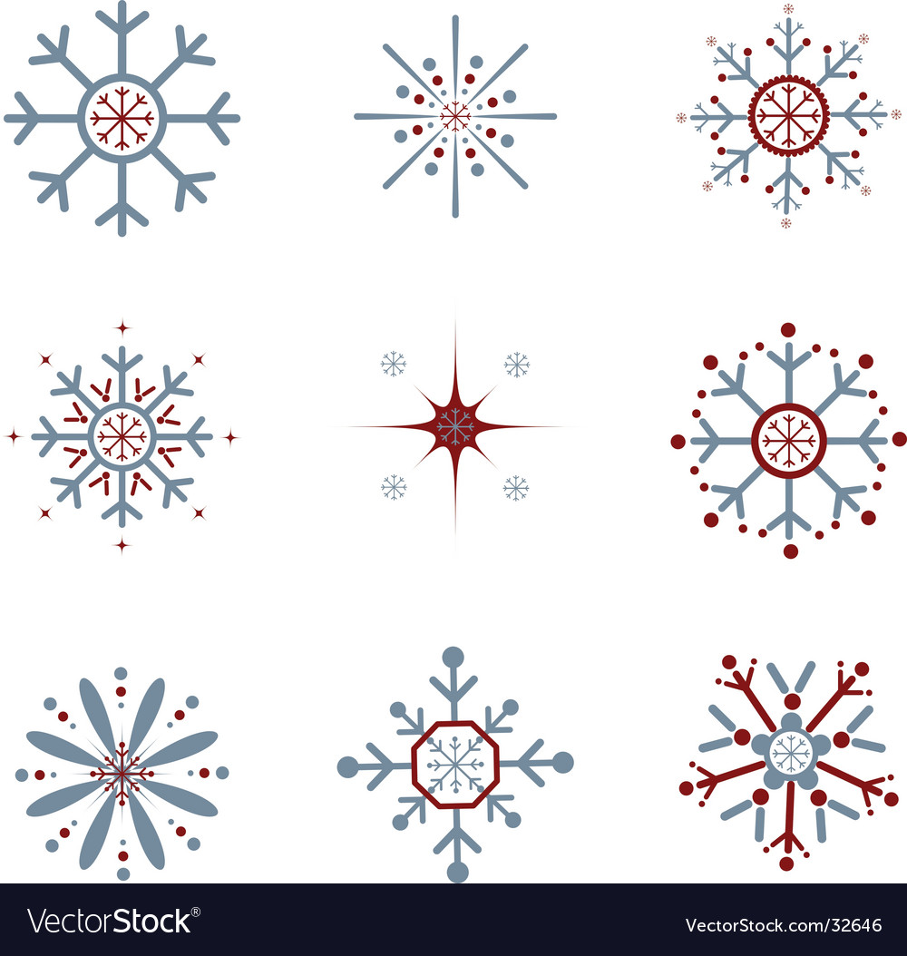 Snowflakes vector image