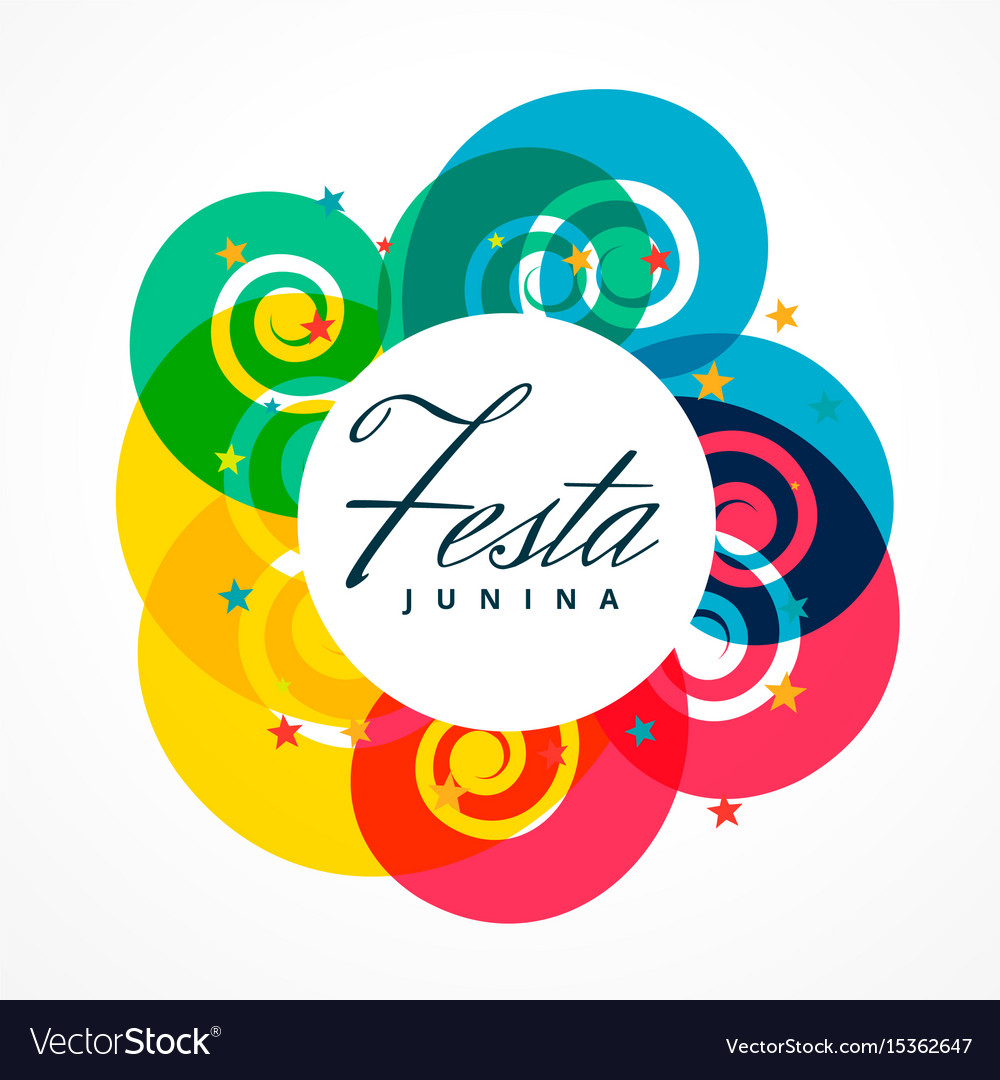 Latin american festival of festa junina holiday vector image