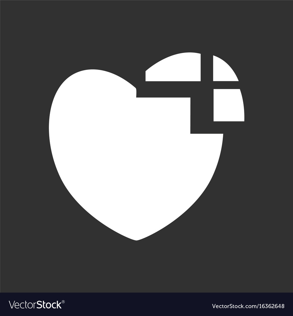 human heart icon on white background | Stock Images Page