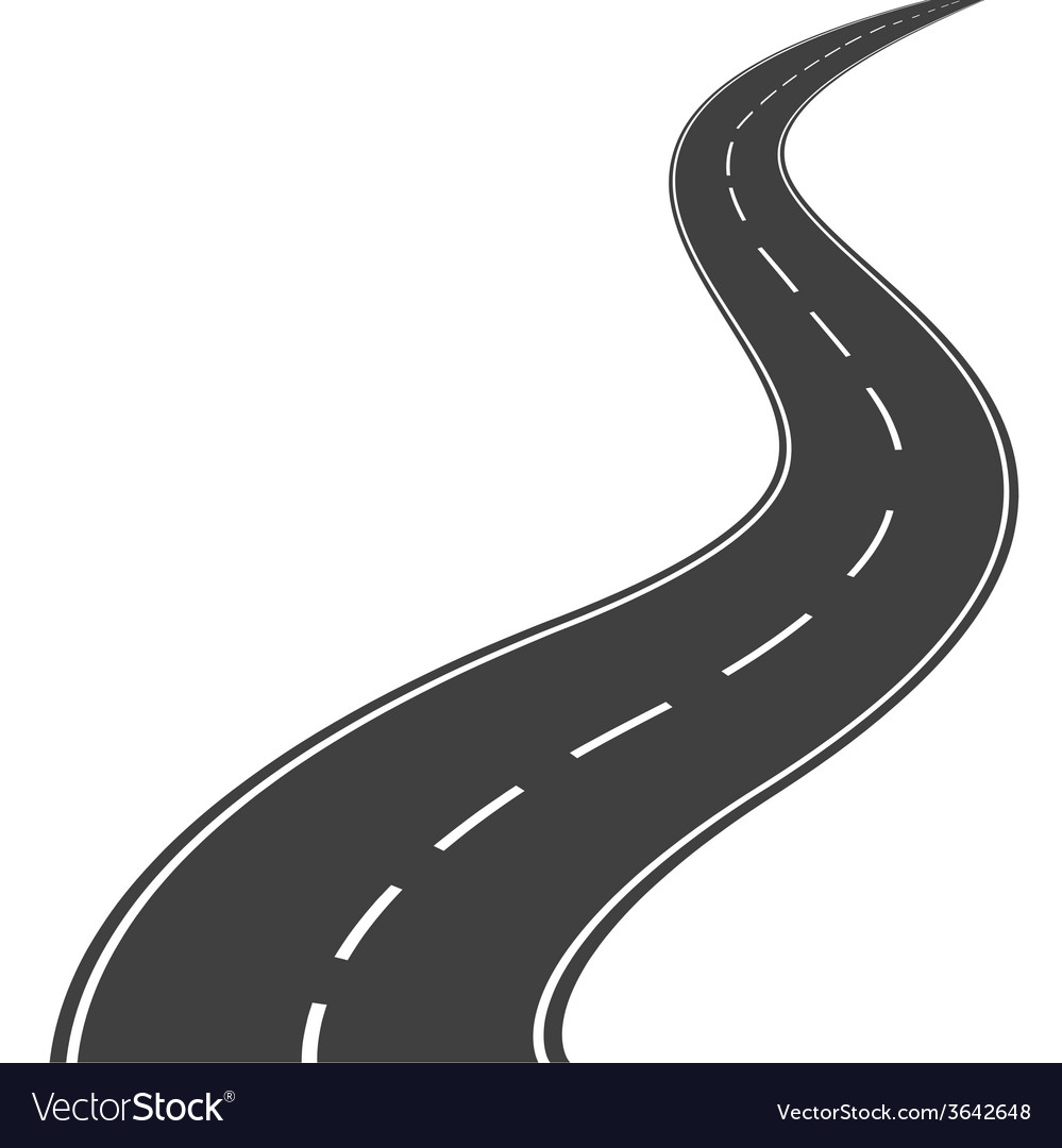 Winding road vector image