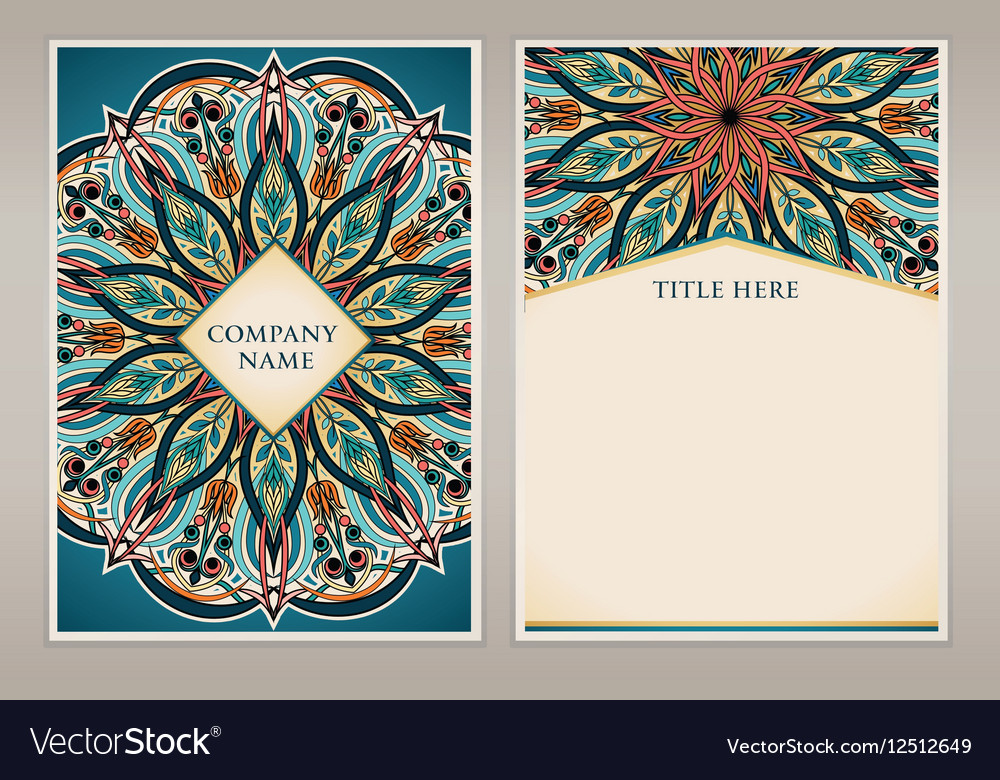 Abstract floral pattern and ornaments ottoman mot vector image