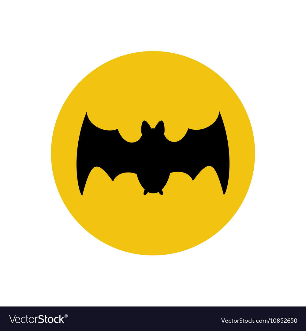 Bat silhouette vector image