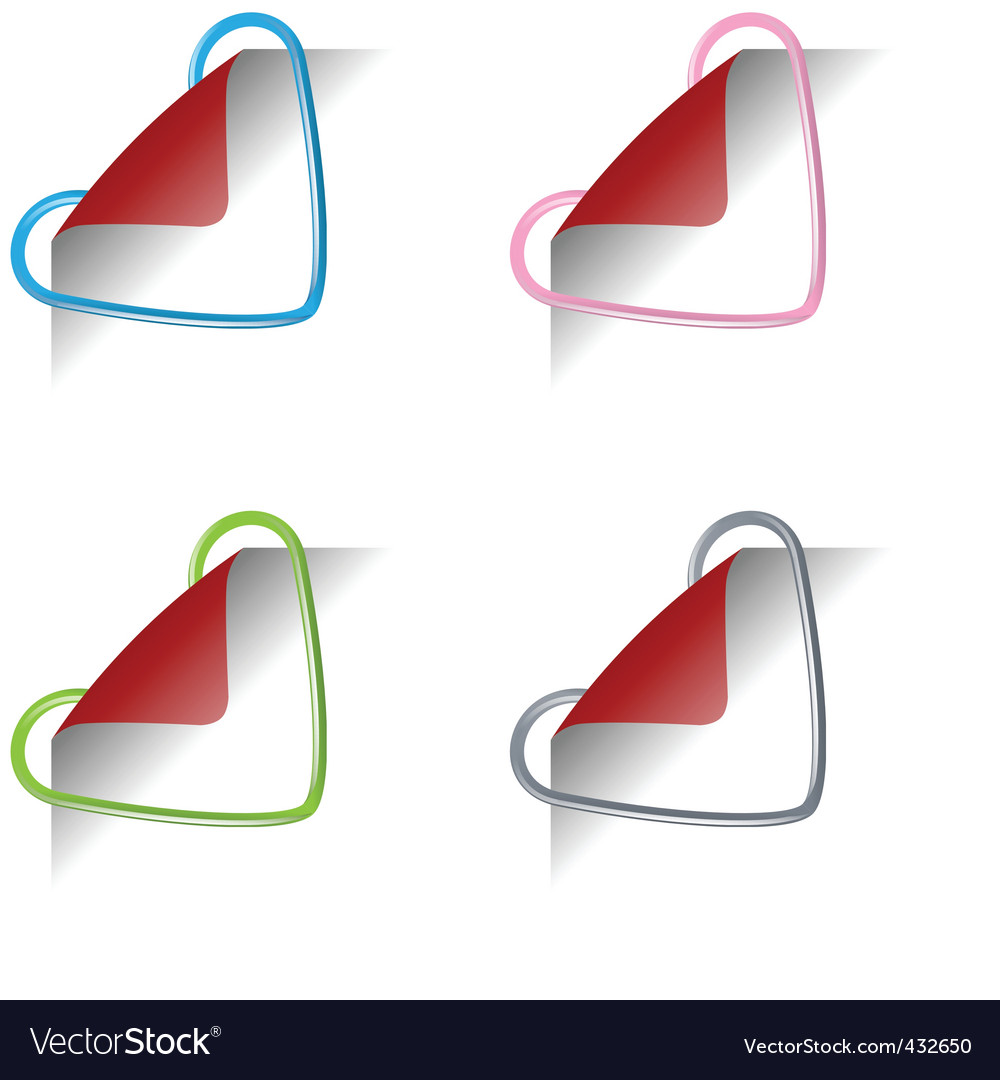 Heart clips vector image