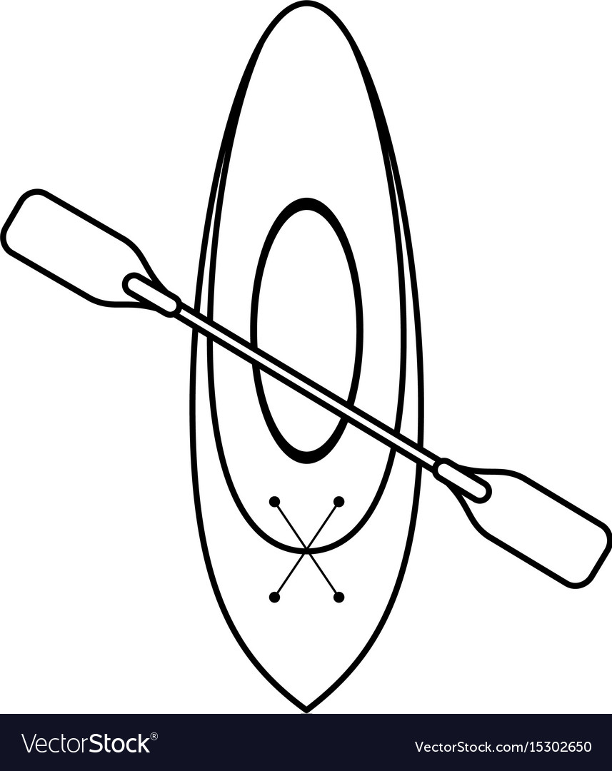 Oar and row boat icon image vector image