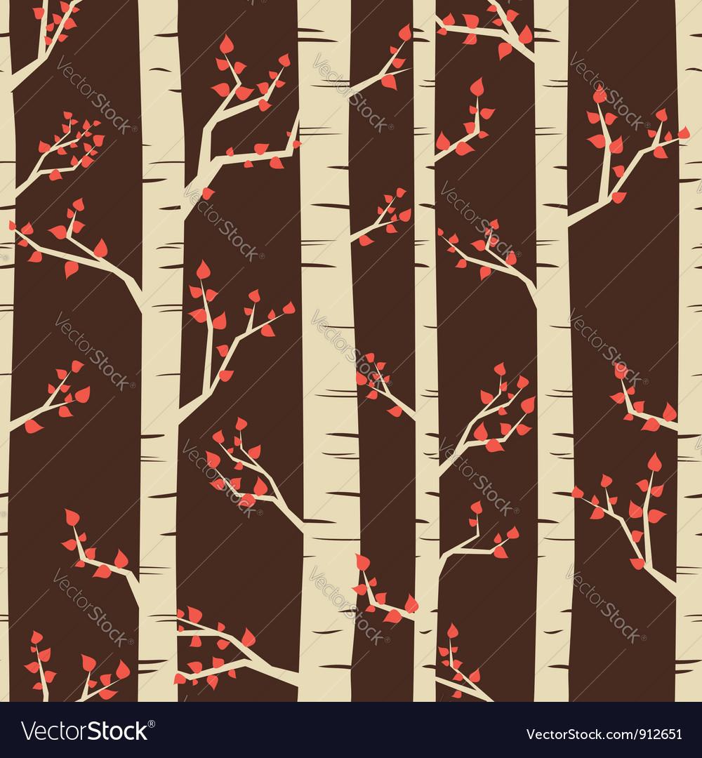 Birch pattern vector image