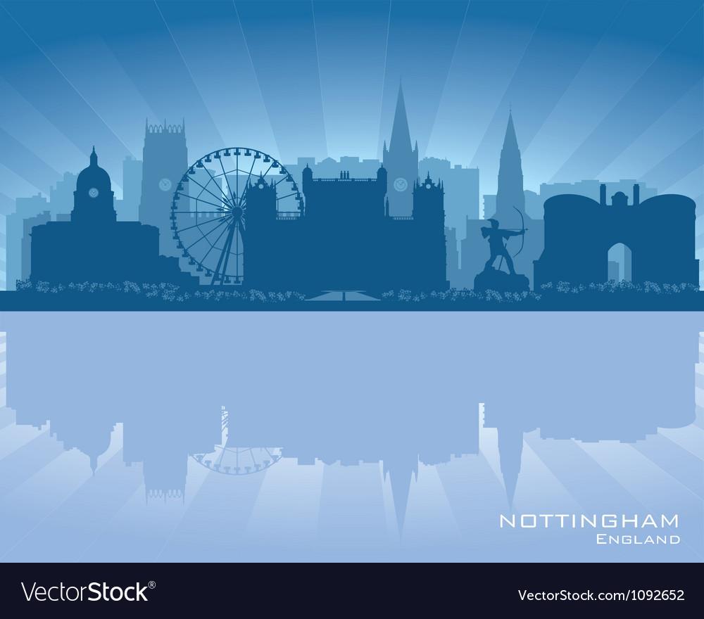 Nottingham England skyline vector image