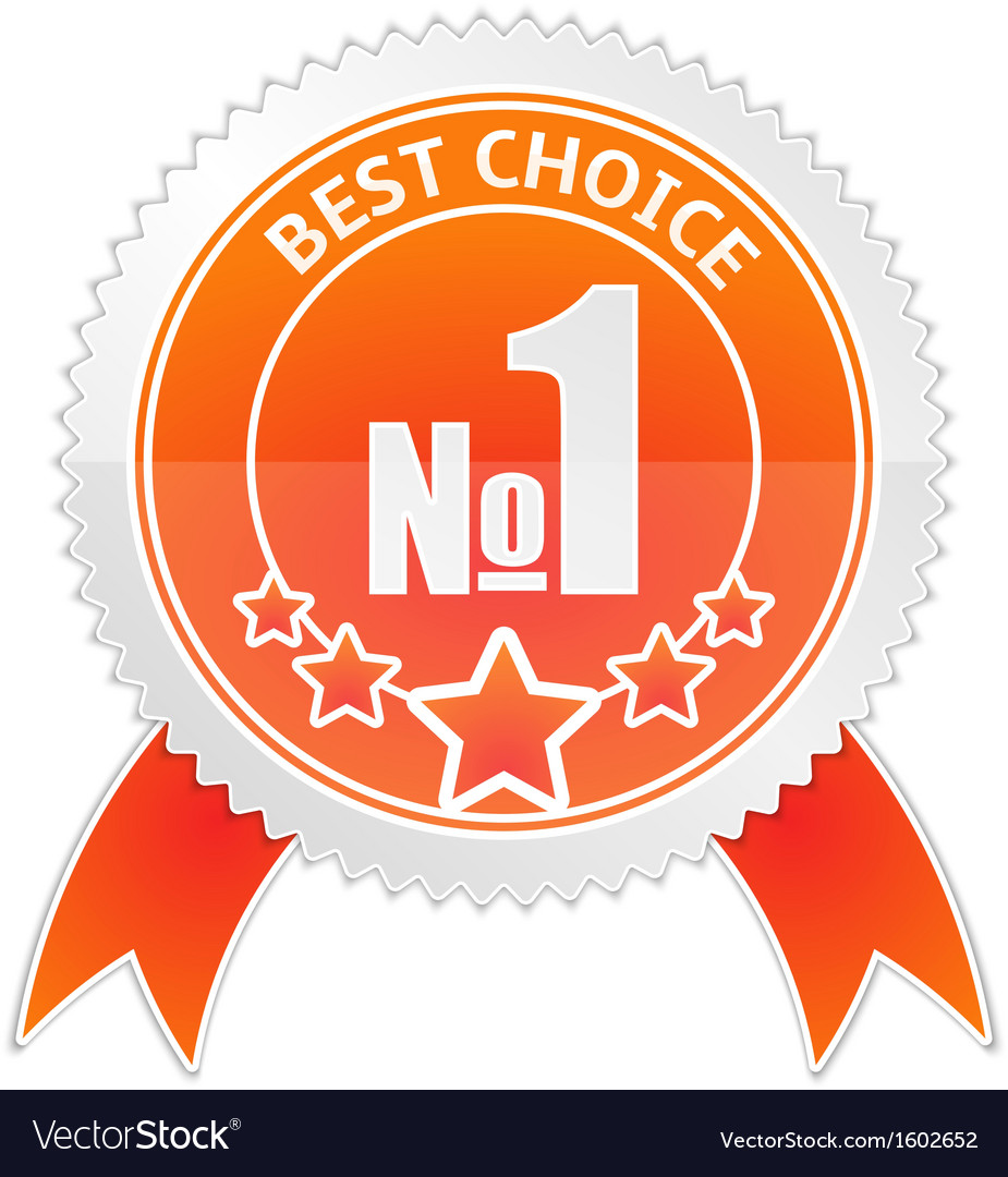 Badge of Best Choice vector image