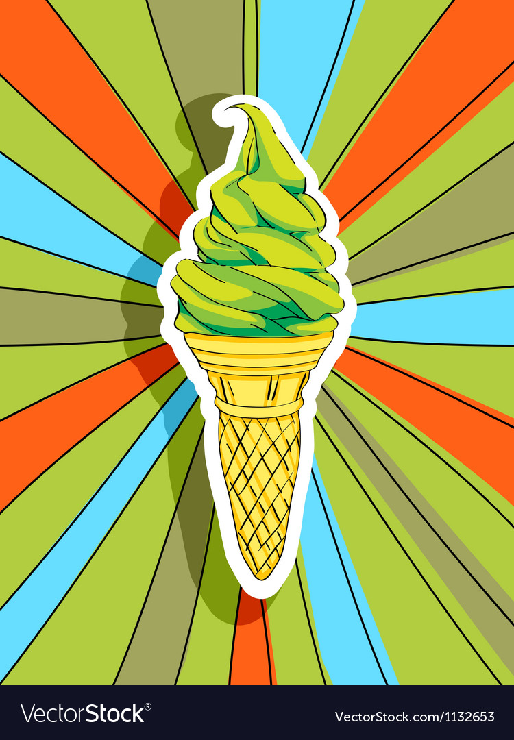 Pop art ice cream vector image