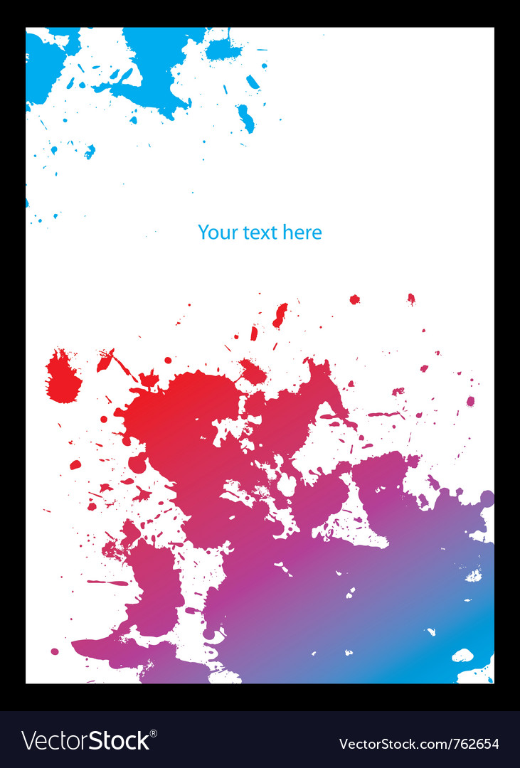 Spot grunge design vector image