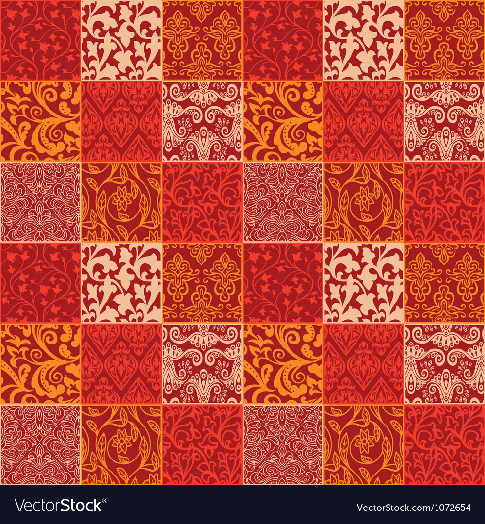 Bright floral seamless pattern - vector image