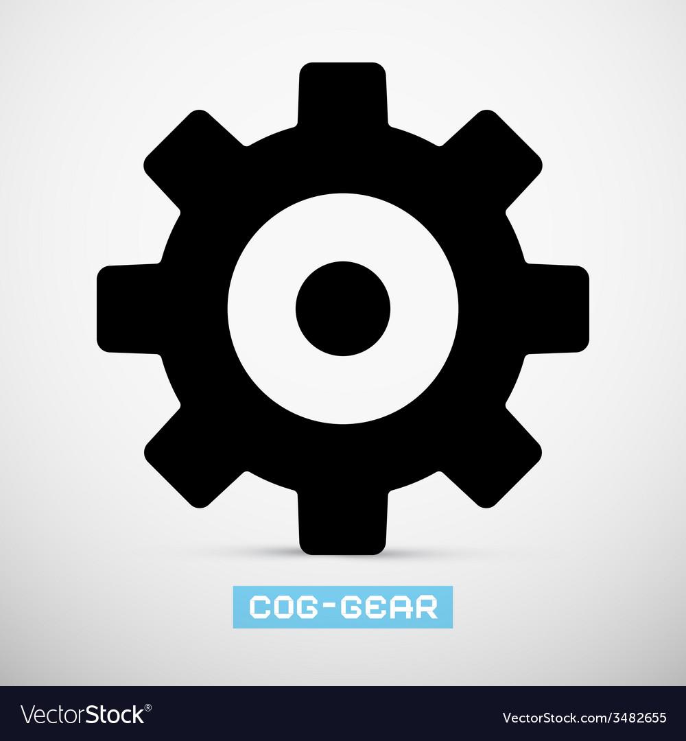 Cog - Gear Icon vector image