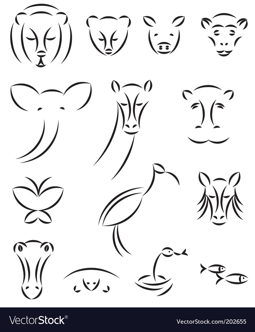Animal illustrations vector image