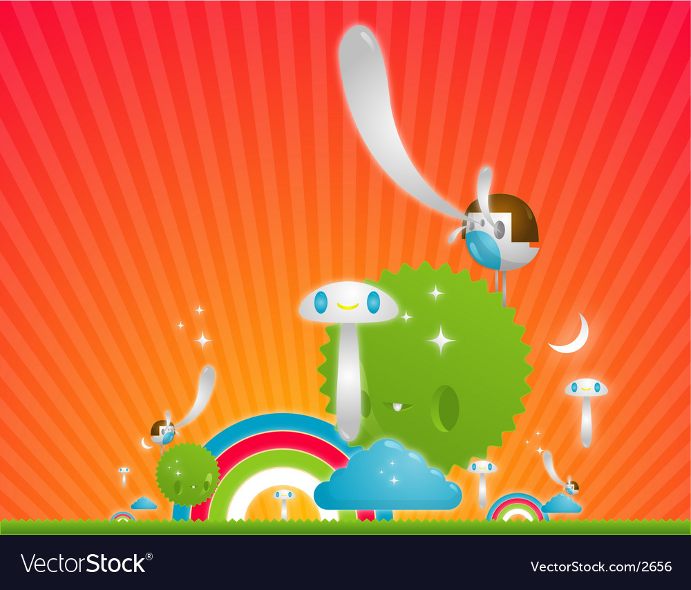 Fantasy illustration vector image