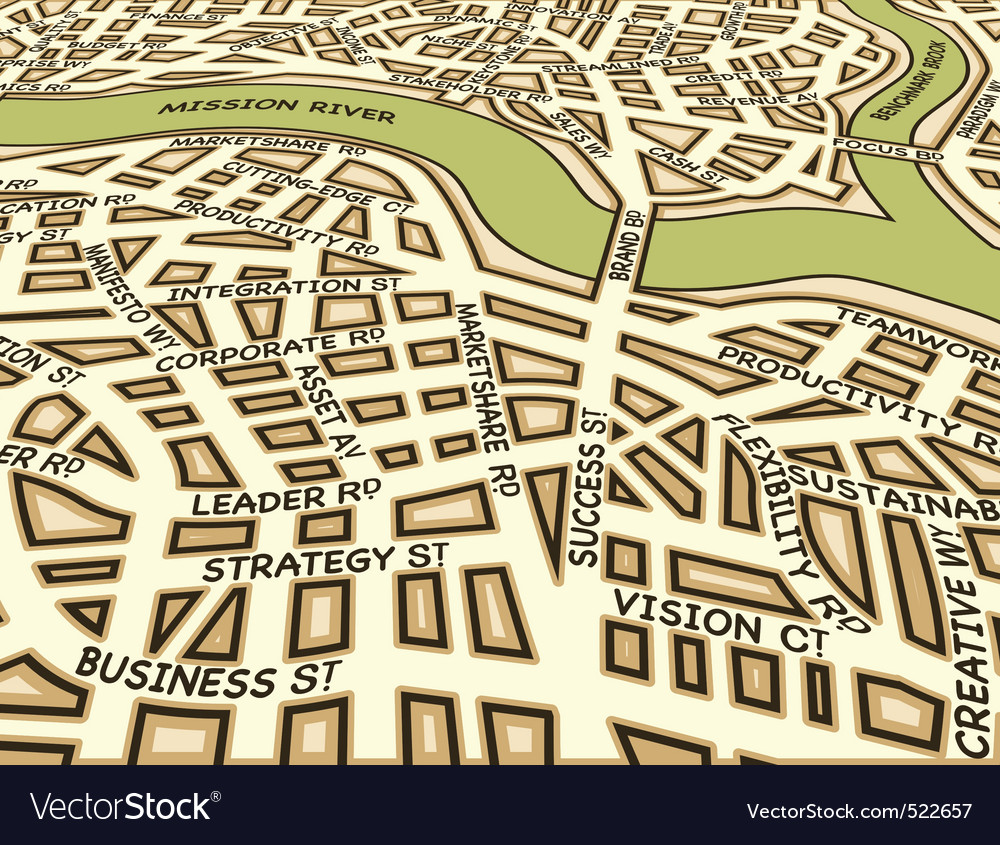 Angled success map vector image