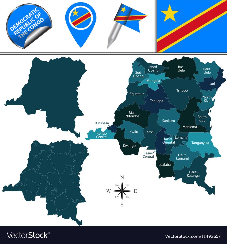 Democratic Republic of the Congo vector image