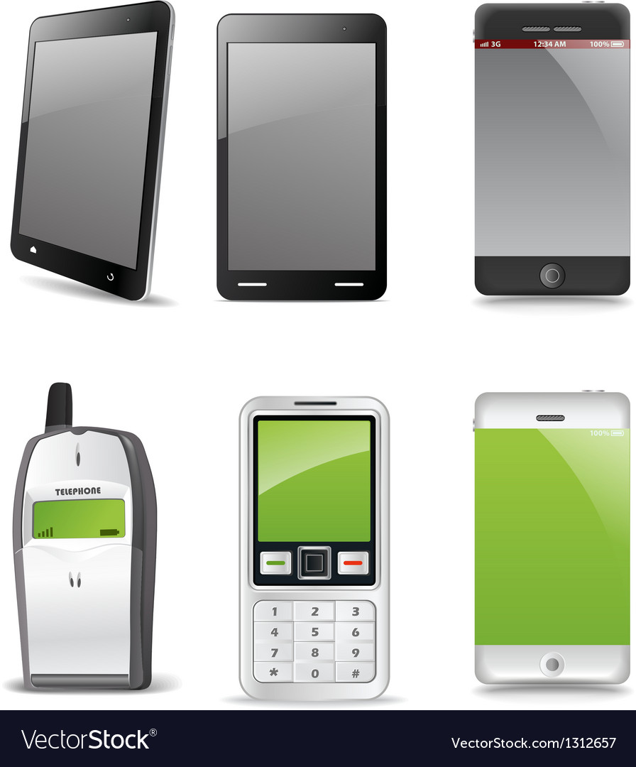 Modern and old gadgets vector image