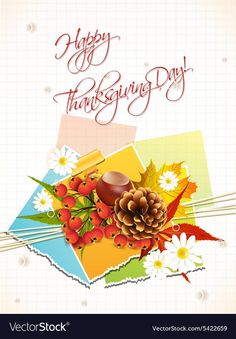 Happy thanksgiving day with sticker