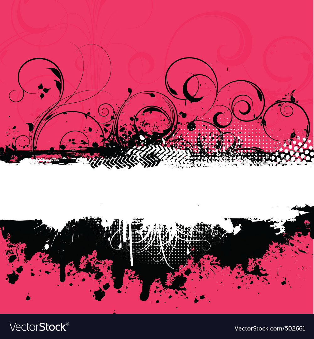 Decorative grunge vector image