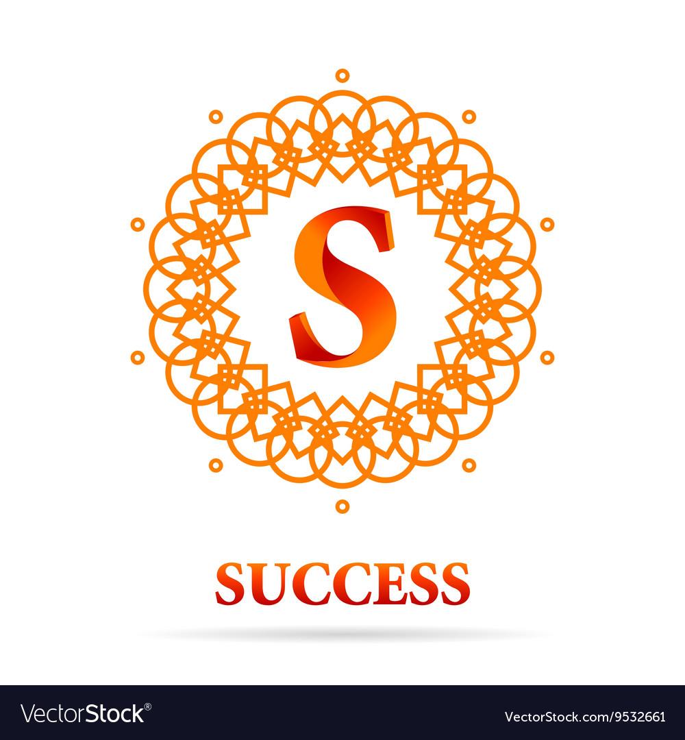 S Letter monogram logo abstract design vector image