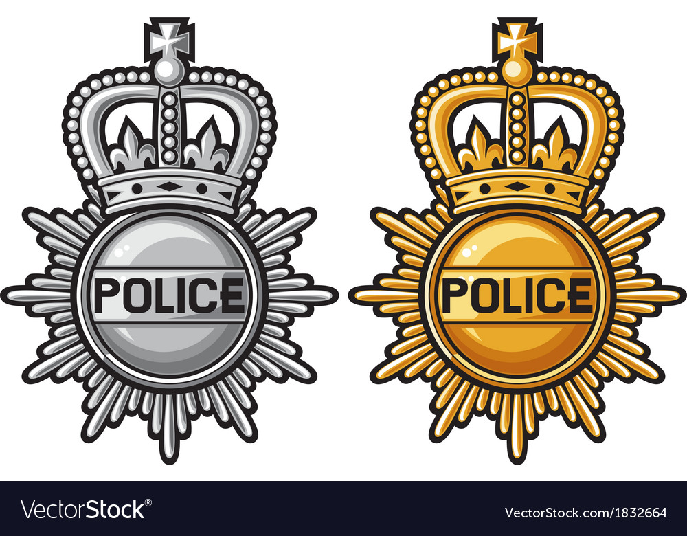 Police badge police sign vector image