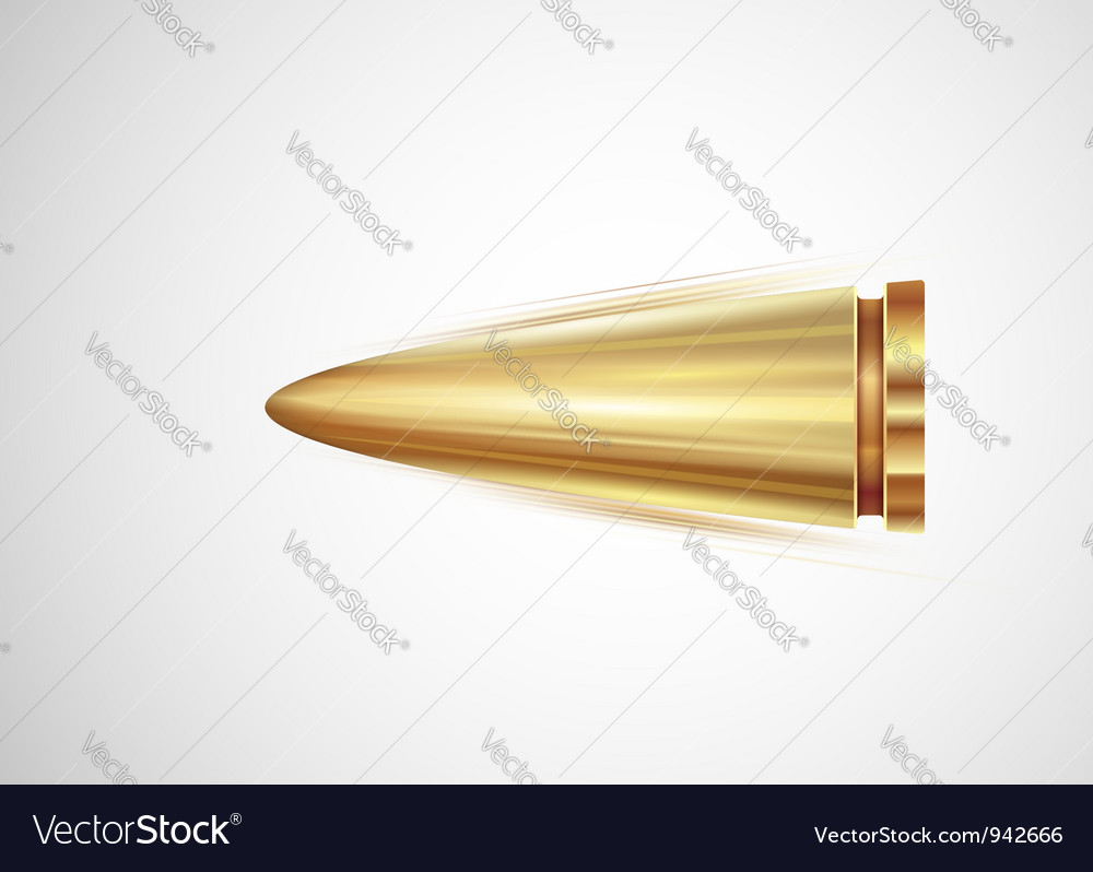 Flying bullet Vector Image