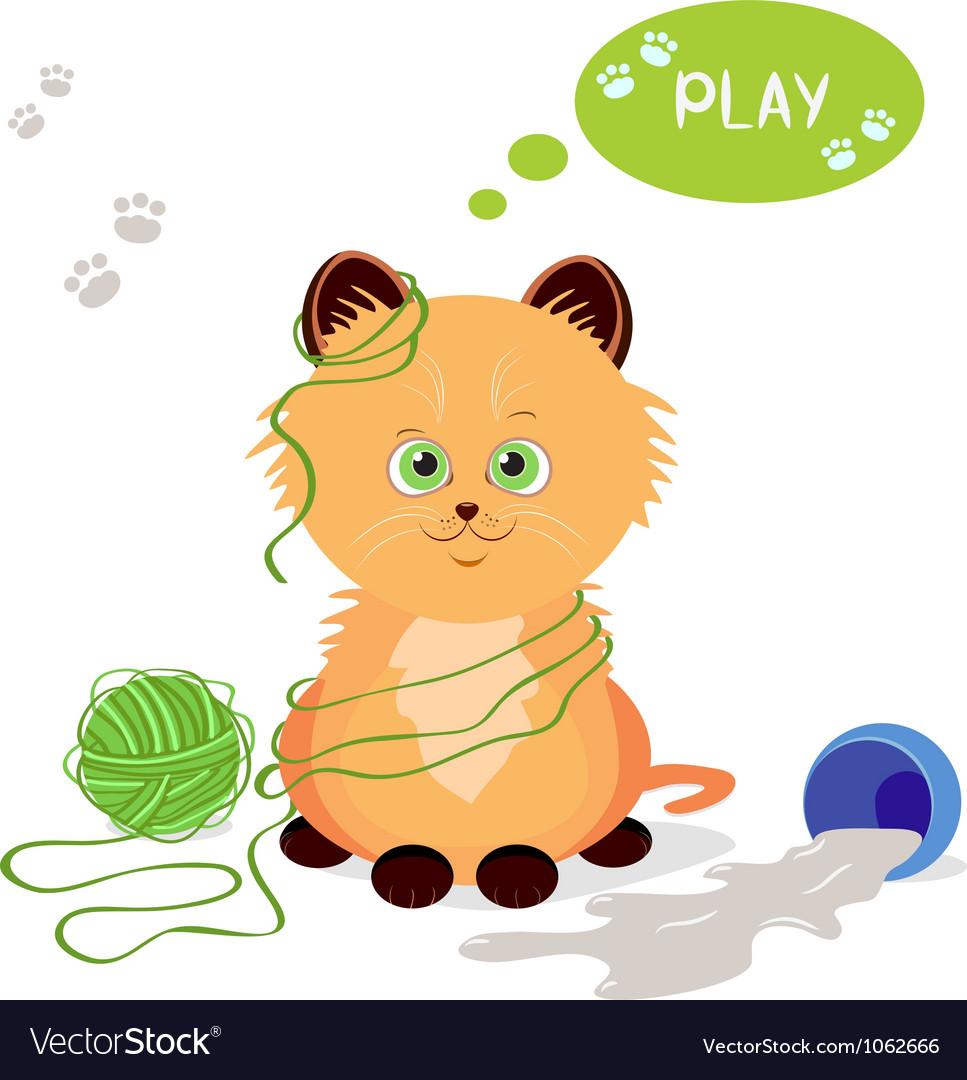 Kitten vector image