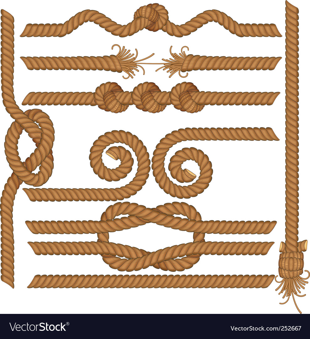 Rope borders vector image