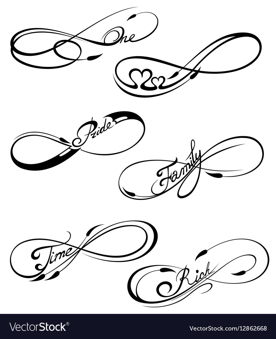 how to draw the infinity sign