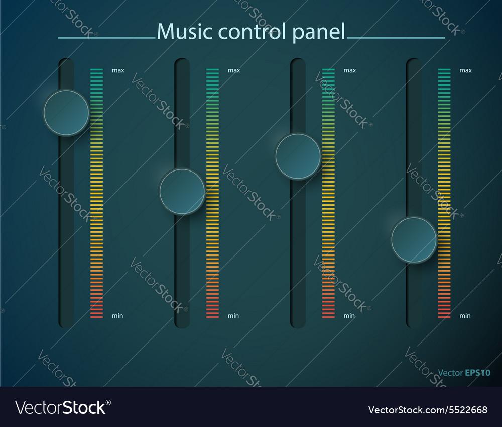 Volume control tumbler vector image