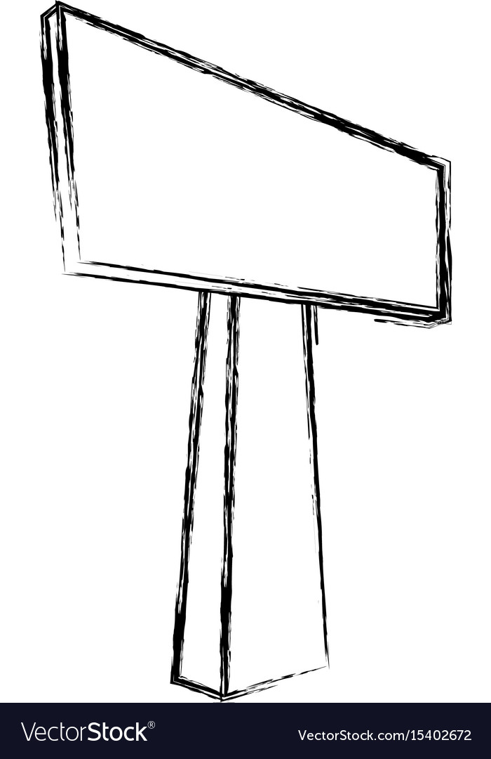 Empty signpost isolated vector image
