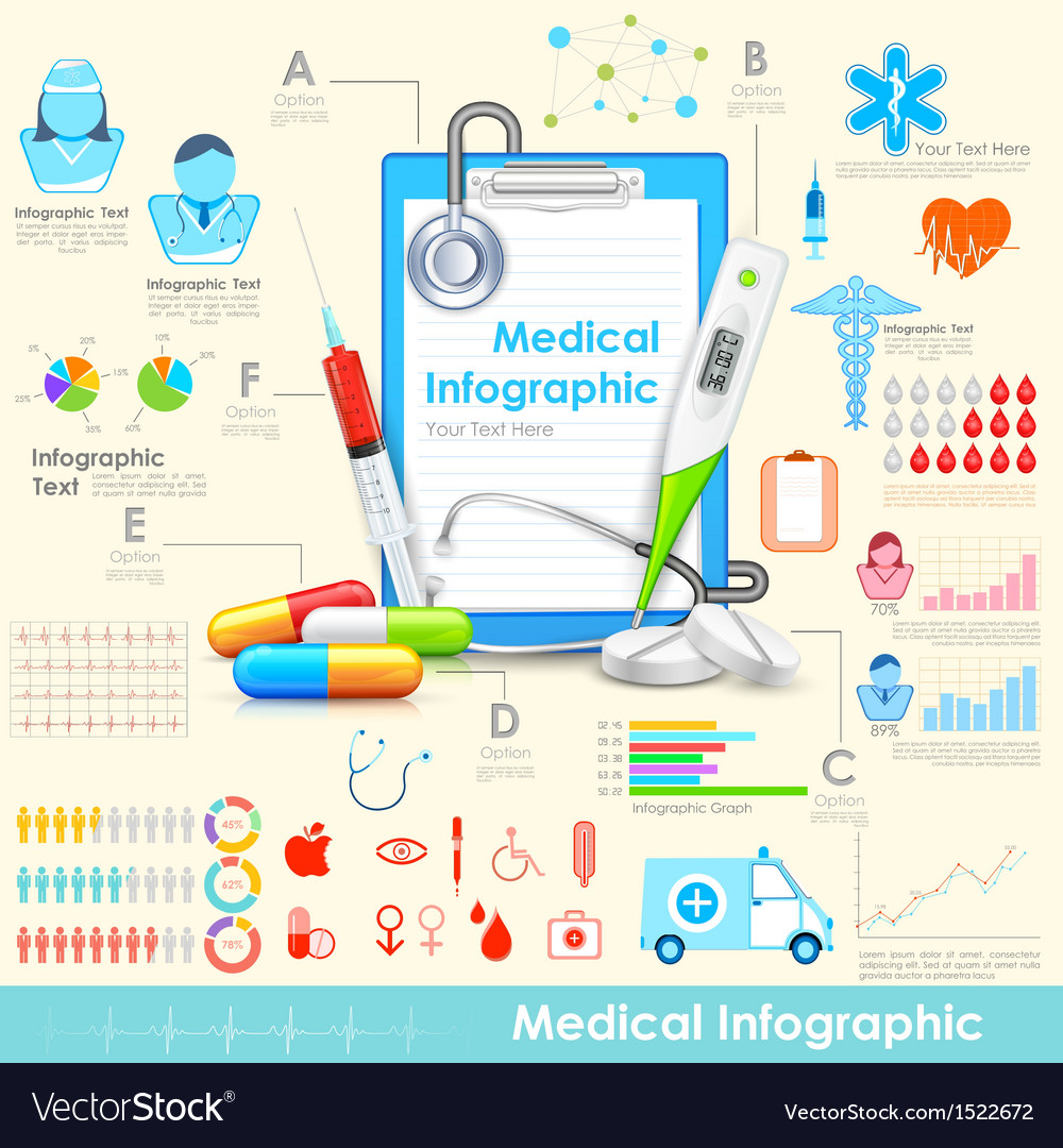 Medical Infographic vector image