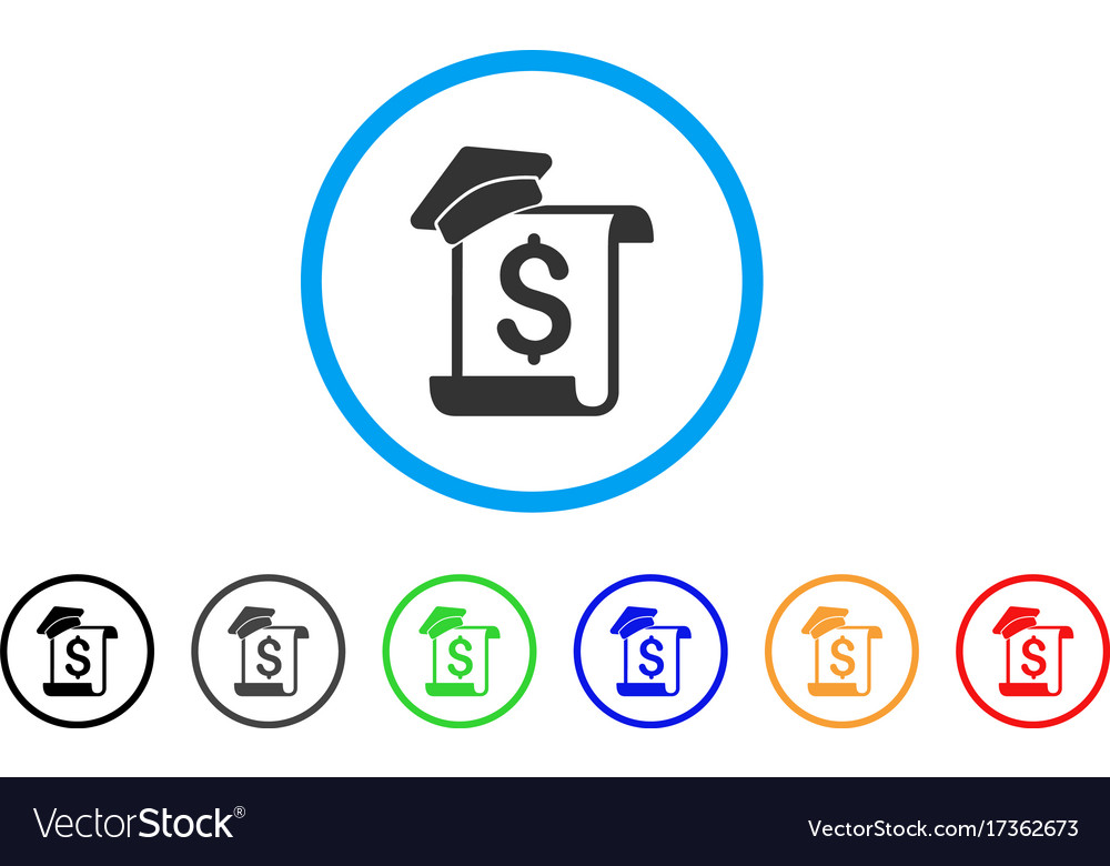 Education Invoice Rounded Icon Royalty Free Vector Image