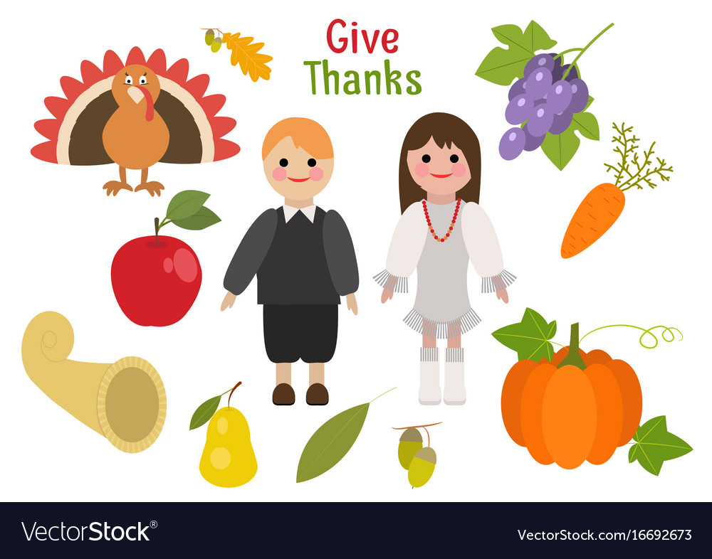 Holiday greetings thanksgiving day vector image
