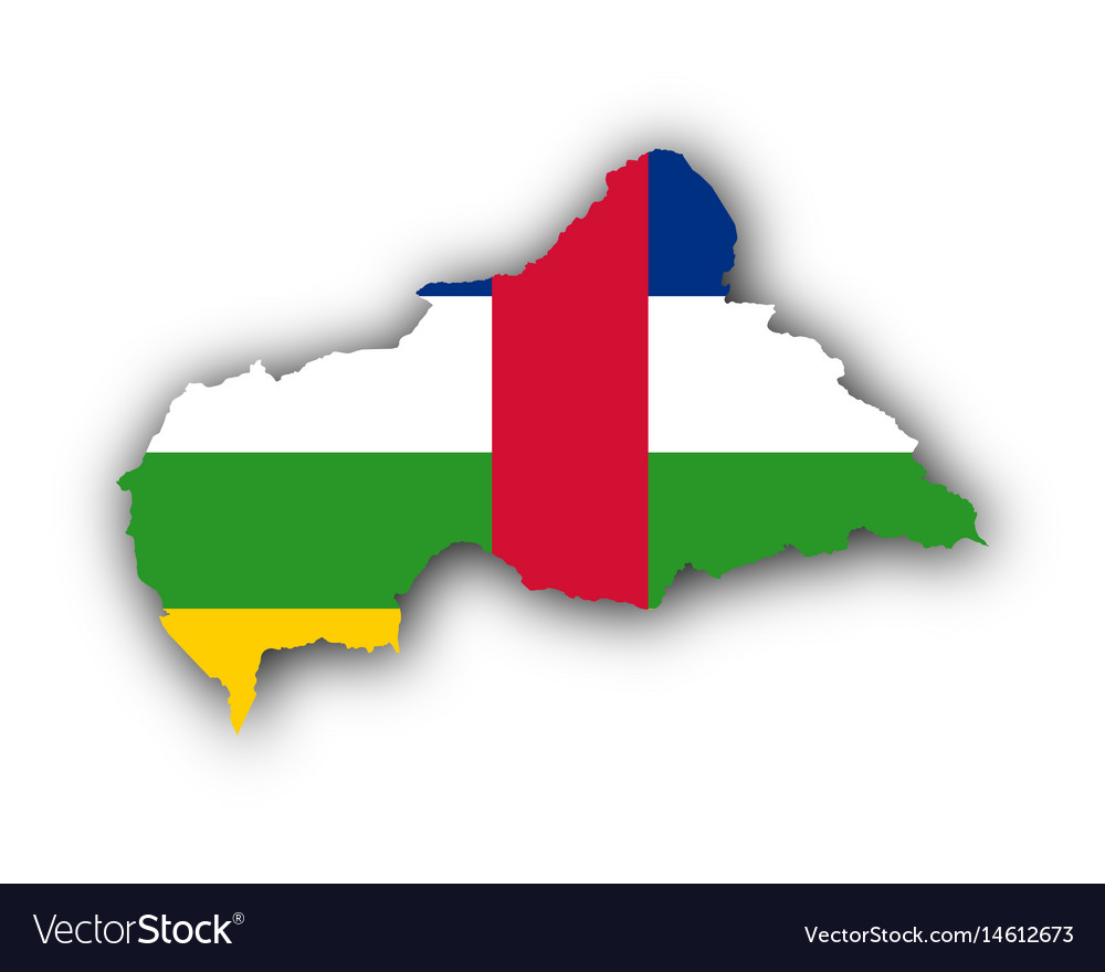 Map and flag of central african republic vector image