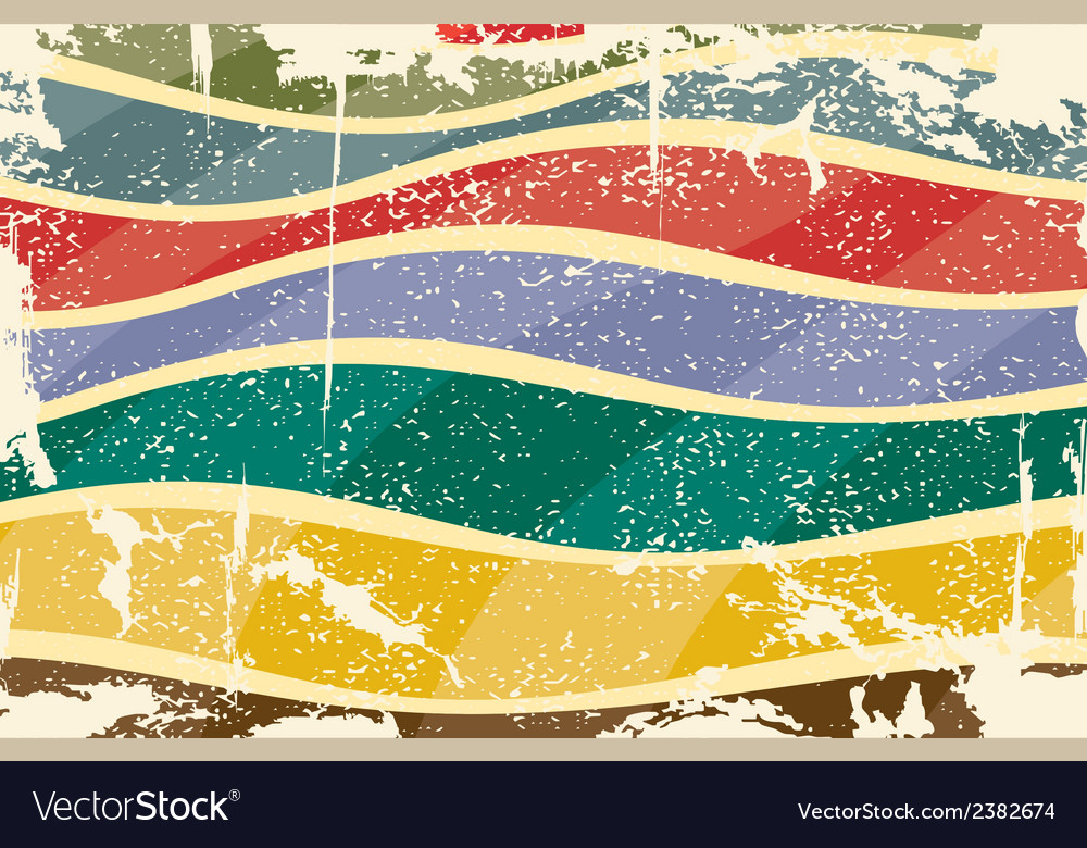 Grunge multicolored stripes background vector image