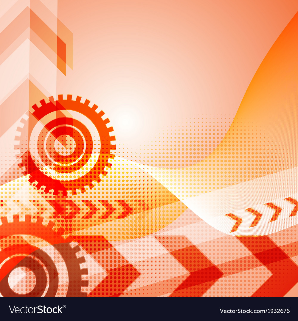 Arrow abstract background vector image