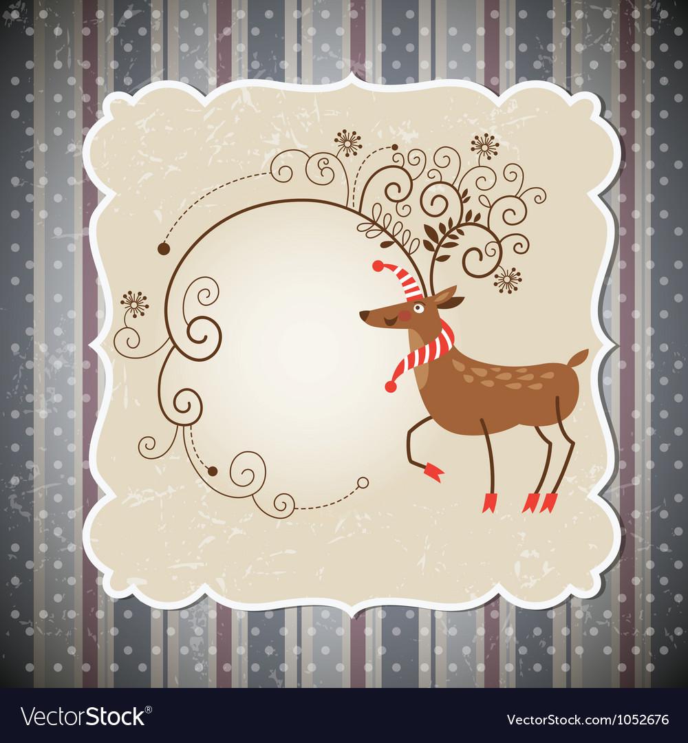 Christmas deer vector image