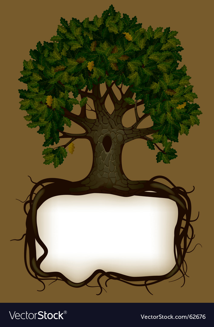 Tree silhouette vector image