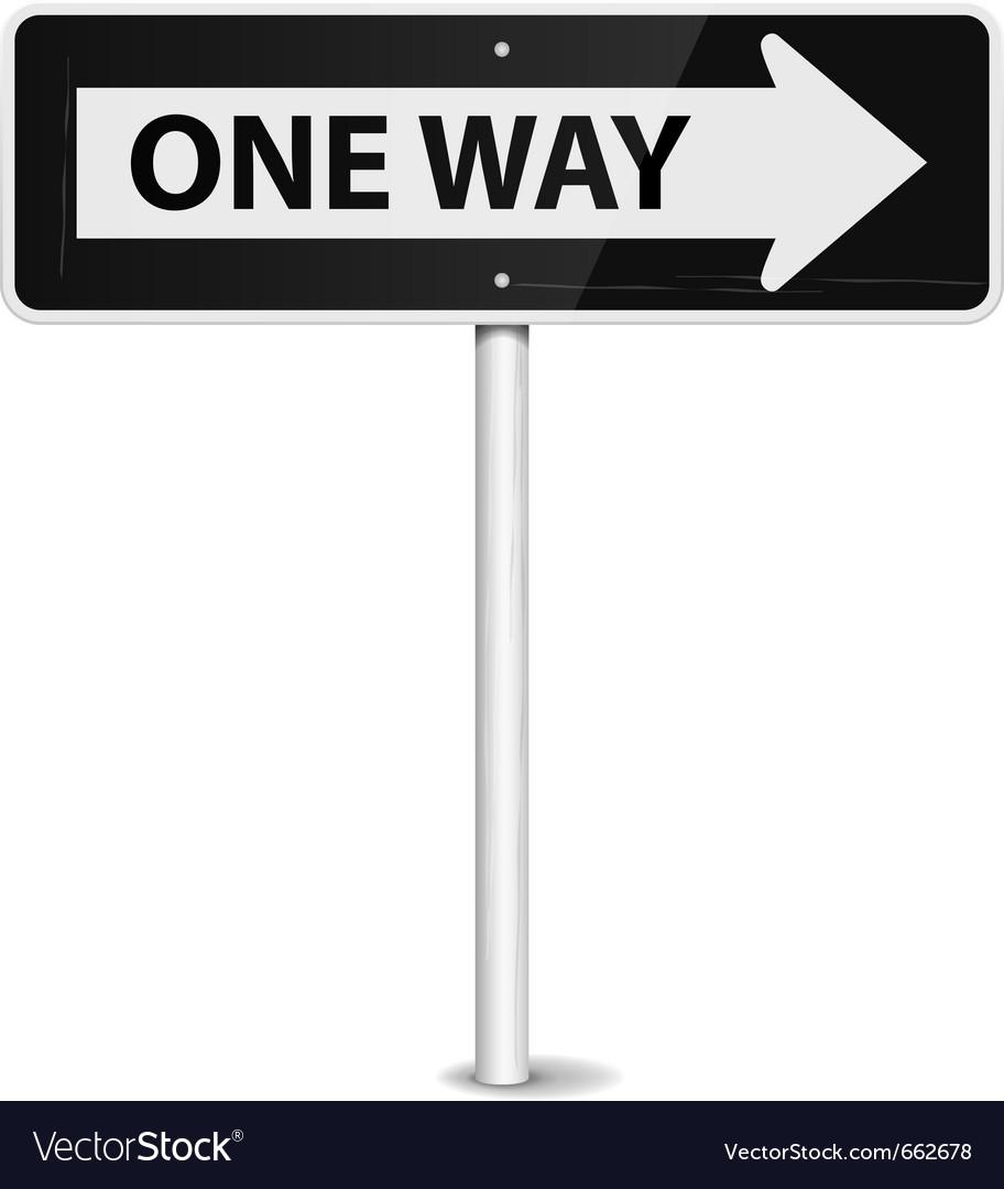 One way arrow Vector Image