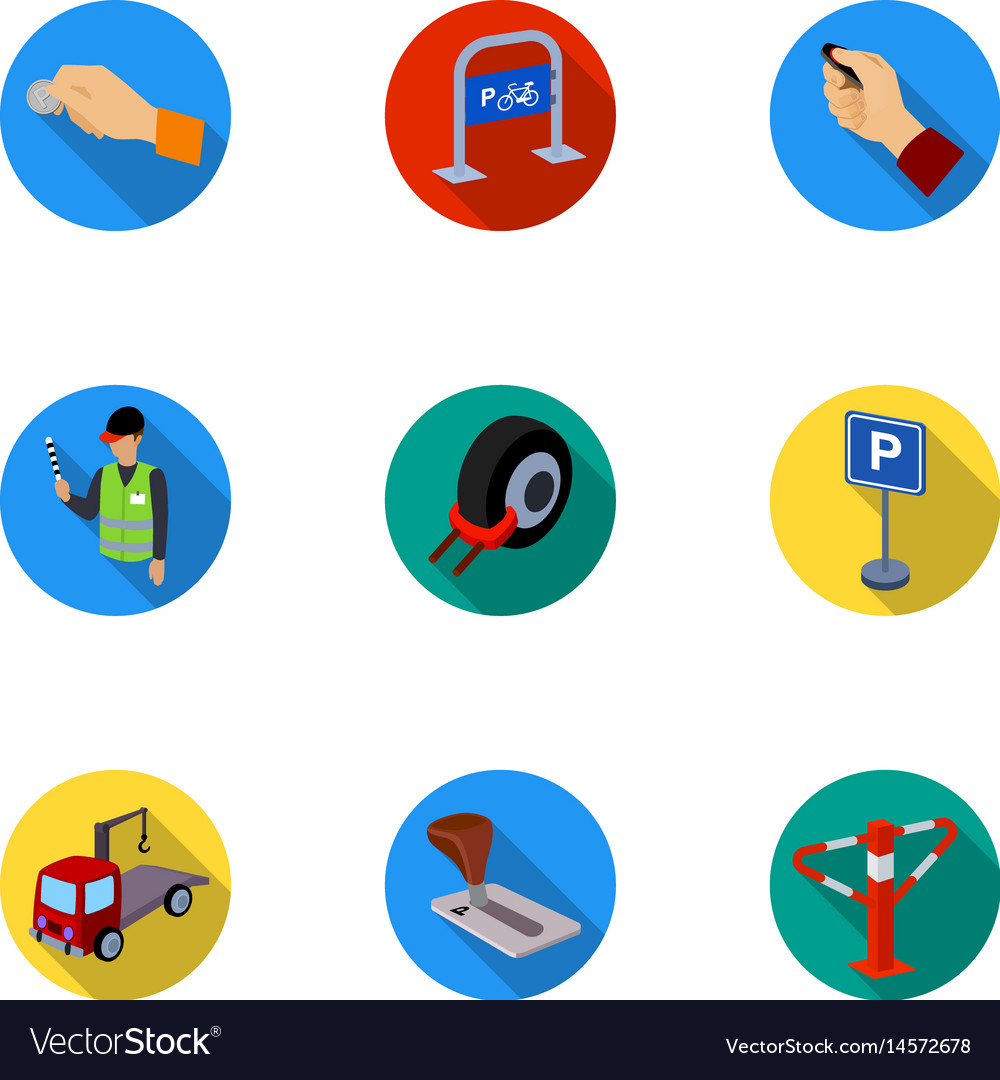 A set of icons for parking cars and bicycles vector image a set of icons for parking cars and bicycles vector image buycottarizona