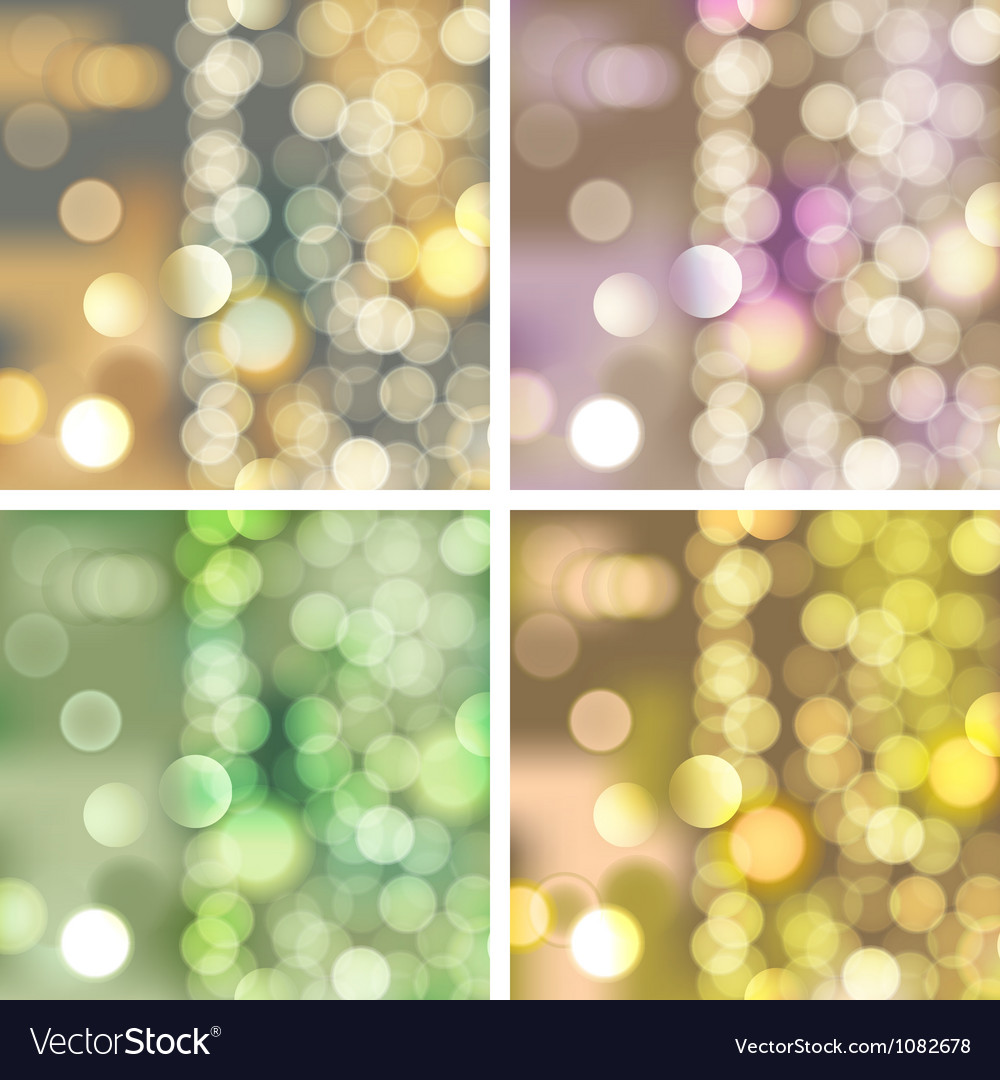 Blurred lights backgrounds vector image