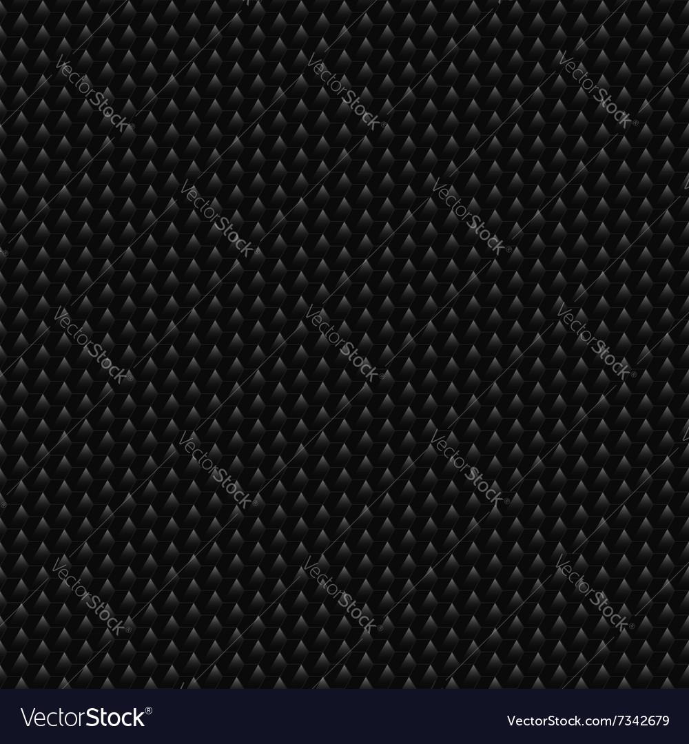 Black Hexagonal Texture vector image