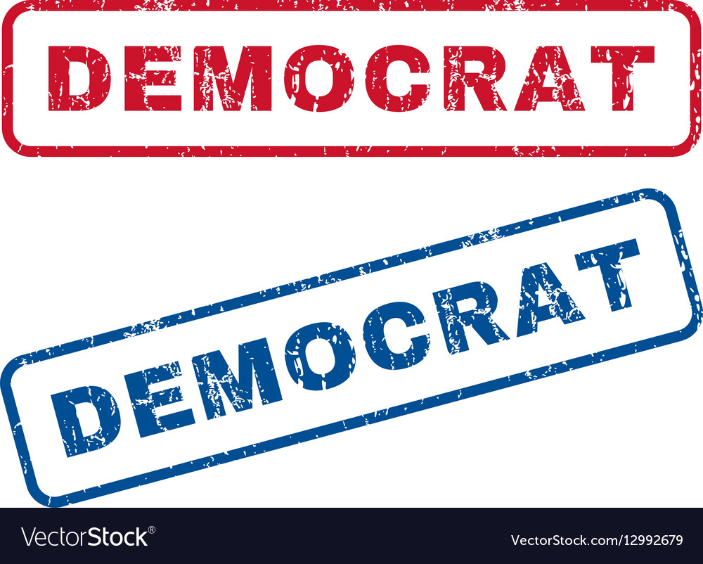 Democrat Rubber Stamps vector image