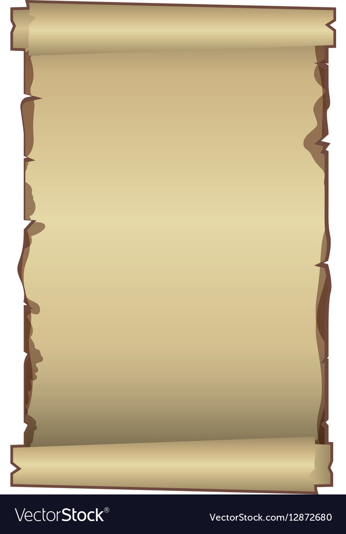 Old ancient papyrus parchment scroll vector image
